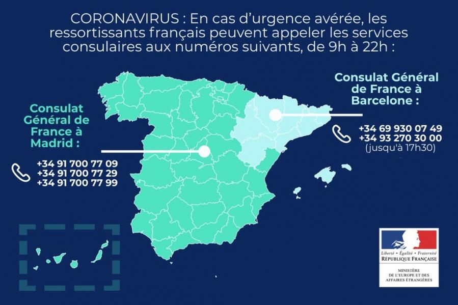 Coronavirus - appeler l'ambassade de France