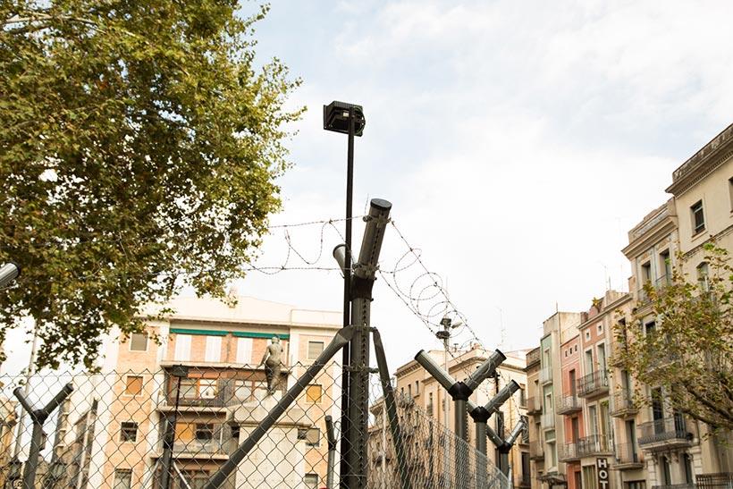 Tobogan sur la Rambla à Figueres - Photo Didier Laget